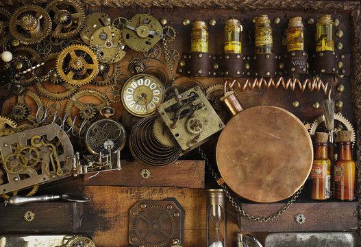 Steampunk ingranaggi antichi