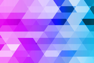 Abstract mosaic of geometric shapes in violet and blue tones