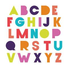 alphabet type font icons vector illustration design