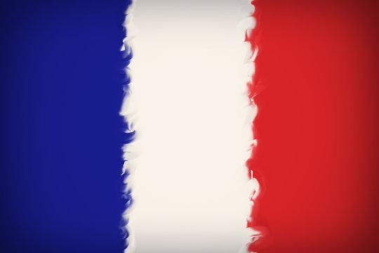 Beautiful France flag close-up
