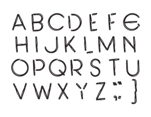 alphabet type font icons vector illustration design