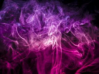 Colored smoke on black background