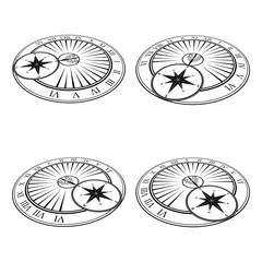 Isometric sundials set