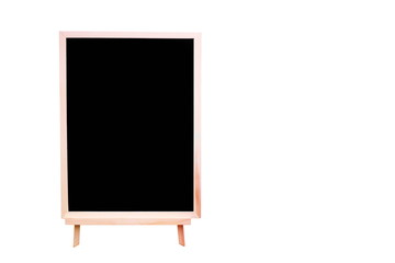 Blank black Chalkboard on white background.