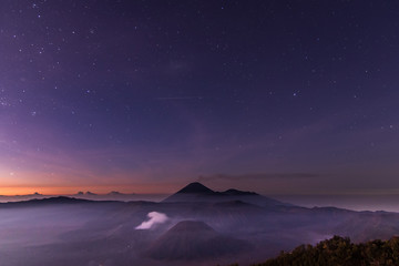 Mount Bromo scenery changes its colours second by second from dust from night to early morning.