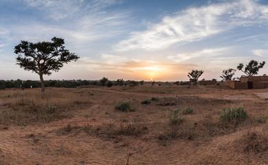 Wall Murals Deep brown Niger Panorama
