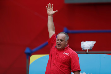 National Constituent Assembly (ANC) President Diosdado Cabello attends a rally in support of Venezuela's President Nicolas Maduro in Caracas
