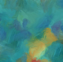 Oil painting. Abstract art background. Drawing texture. Soft paint brushstrokes.