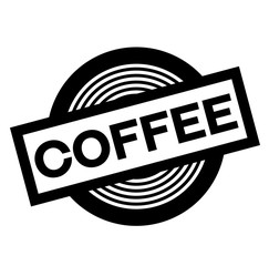coffee black stamp