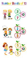 Math number bonds of 10