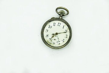pocket watch classic on a white background