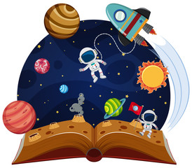 Space theme pop up book