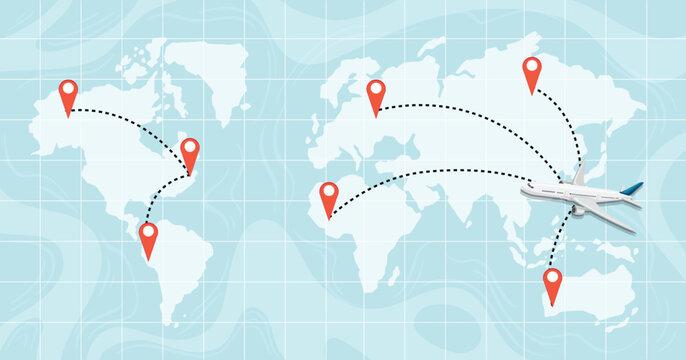 A world map destination