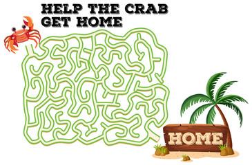 A crab maze game