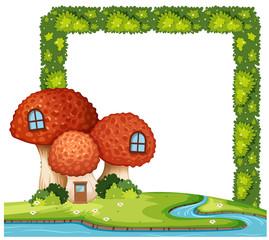 Mushroom house bush frame concept
