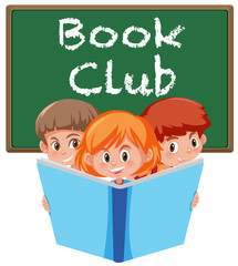 Book club banner on white background