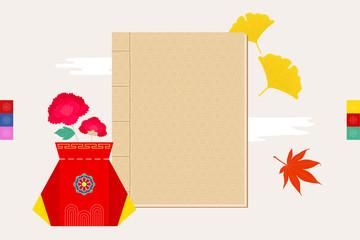 Korean traditional objects illustration.