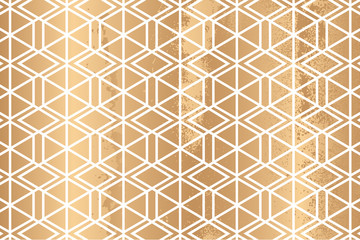 Luxury gold and geometric style pattern vector.