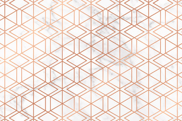 Fotobehang - Luxury gold and geometric style pattern vector.
