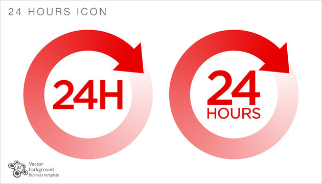 24 hours icon #Vector Graphics