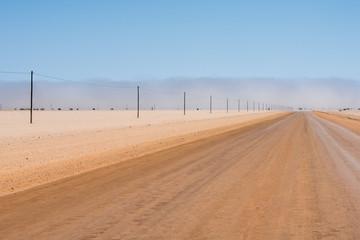 desert trail in Namibia
