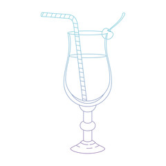 cup cocktail drink icon vector illustration design