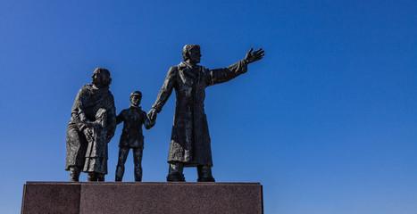 Photo sur Plexiglas Commemoratif Auswandererdenkmal Bremerhaven