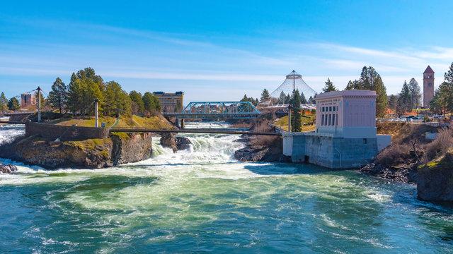 Spokane Falls Panorama in Spokane, WA