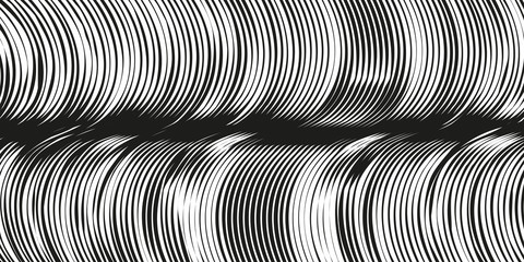 abstract graphic waves background in black and white