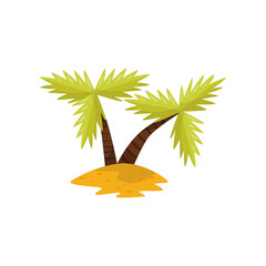 Beautiful tropical palm trees vector Illustration on a white background
