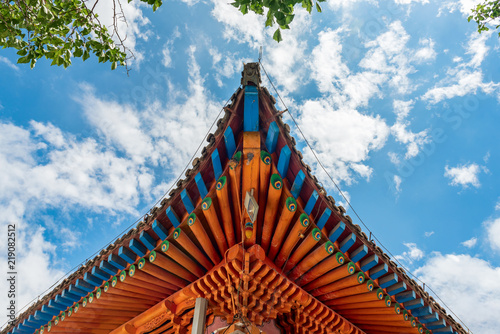 chinese roof decoration of the japanese stock photo and royalty