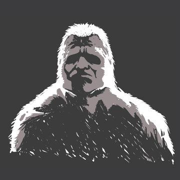 Sasquatch black and white