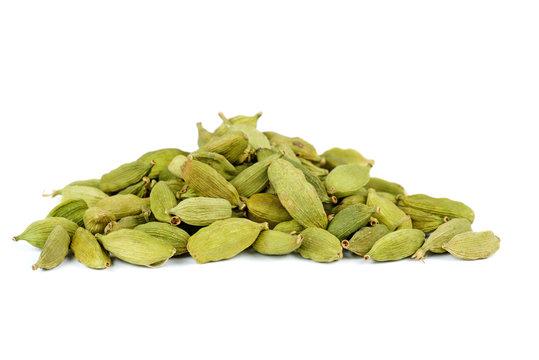 Small pile of green cardamon seeds