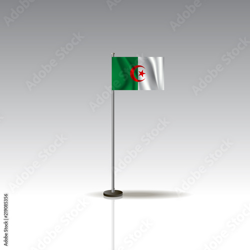 Flag Illustration of the country of Algeria  National