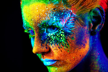 close up UV portrait  Fototapete