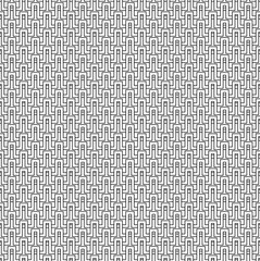 Abstract seamless pattern from grid of wave lines. Simple black and white geometric texture for fabric or clothing. Vector