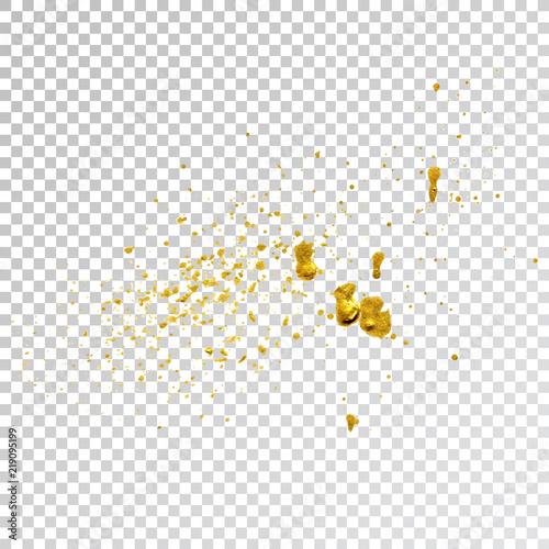 Gold paint splash smear stroke stain, brush stroke  Abstract gold