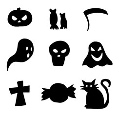 Vector illustration collection of Halloween icons