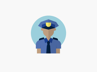 policeman cartoon avatar flat design icon