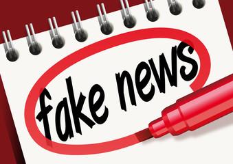 fake news, mensonge, mot, bloc-notes, faux, fausse, information, tromper, problème, solution