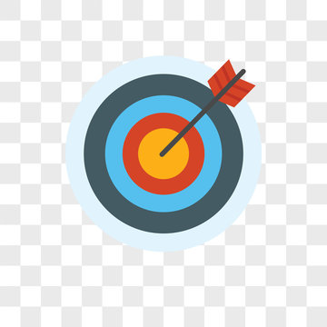 Archery vector icon on transparent background, Archery icon