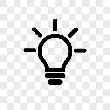 Idea vector icon on transparent background, Idea icon