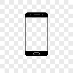 Smartphone vector icon on transparent background, Smartphone icon