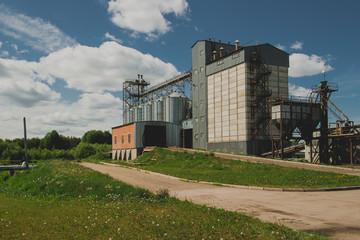 Poultry farm buildings, grain storage