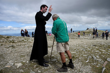 The Wider Image: Ireland's Catholics prepare for a visit from the Pope
