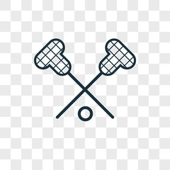 Lacrosse vector icon on transparent background, Lacrosse icon