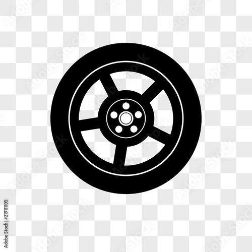 129ca317b84b51 Car Wheel vector icon on transparent background, Car Wheel icon ...