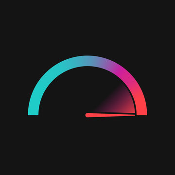 Colorful speedometer logo