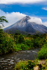 The Classic Cone Shape of Arenal Volcano in Costa Rica.