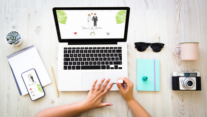 Nail polish and wedding website
